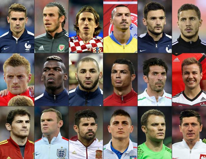 Die EM 2016 Fussballstars (Foto AFP)