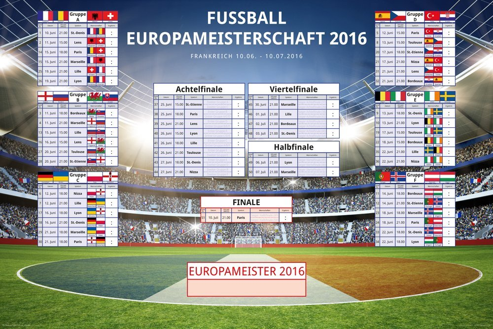 em 2016 spielplan fussball em 2016. Black Bedroom Furniture Sets. Home Design Ideas