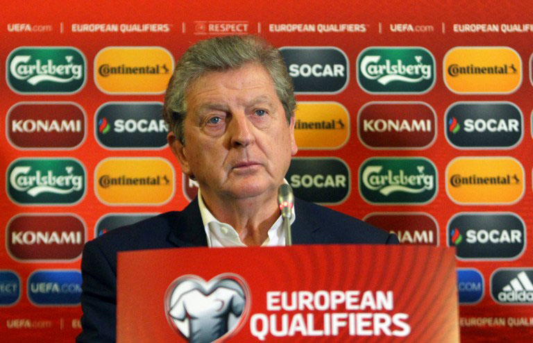Roy Hodgson: Nationaltrainer von England. AFP PHOTO / PETRAS MALUKAS