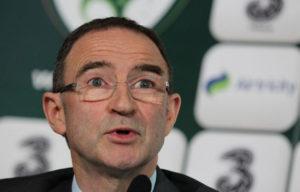 Der irische Trainer Martin O'Neill.  AFP PHOTO/ PETER MUHLY