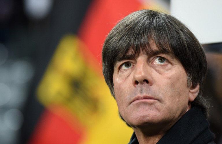 Bundestrainer Jogi Löw vor dem Länderspiel gegen Italien. / AFP / CHRISTOF STACHE