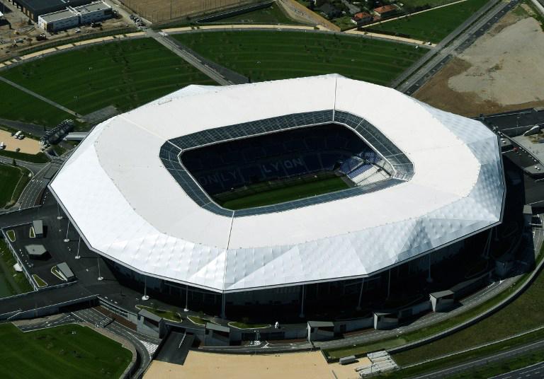 "EM-Fussballstadion von Lyon ""Parc Olympique Lyonnais"" bekannt al"