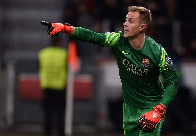 Barcelona's Torwart Marc-Andre Ter Stegenauf dem Weg zur Fußball EM 2016? AFP / PATRIK STOLLARZ