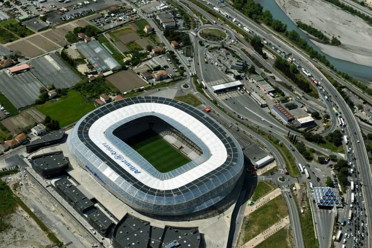 """EM-Stadion von Nice """"Stade Allianz Riviera"""""""