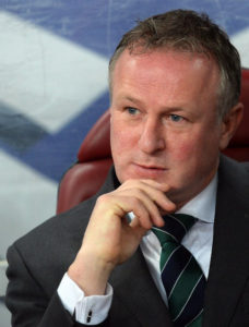 Michael O'Neill: Nationaltrainer von Nordirland. AFP PHOTO / DANIEL MIHAILESCU