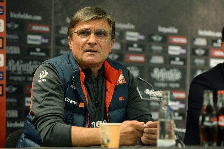 Adam Nawalka: Nationaltrainer von Polen. AFP PHOTO / PATRIK STOLLARZ