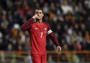 Weltfußballer 2014 Cristiano Ronaldo während des Freundschaftsspiels Bulgarien gegen Portugal am 25.März.2016. / AFP / FRANCISCO LEONG