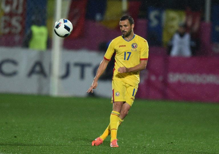 rumänscher Nationalspieler Lucian Iulian während des Freundschaftsspiels Rumänien gegen Litauen am 23.März.2016. / AFP / DANIEL MIHAILESCU