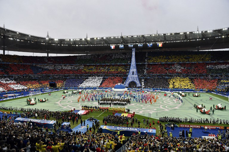 Die Eröffungsfeier der Fußball EM 2016 im Stade de France in Saint-Denisam 10.Juni 2016. / AFP PHOTO / PHILIPPE LOPEZ