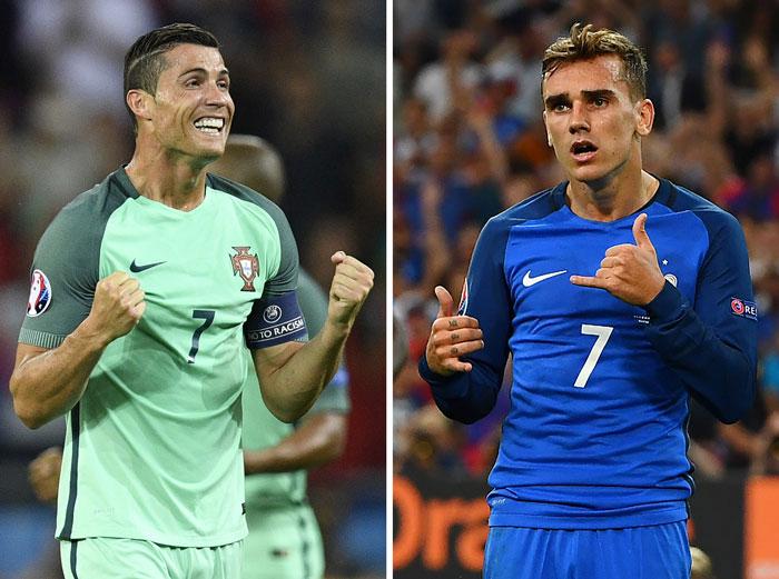 Wer wrid der Star des Finales? Cristiano Ronaldo oder Antoine Griezmann? / AFP PHOTO / MARTIN BUREAU AND Franck FIFE